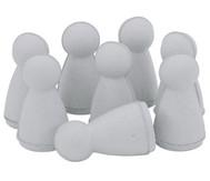 Spielfiguren aus Pappe, 8 Stück