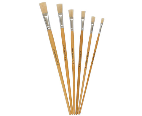 Borstenpinsel-Set 6 Stueck mit langem Stiel-2