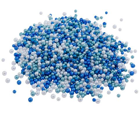Metallicperlen-Set Blau-Toene