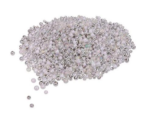 Metallicperlen Silber-Toene 250g