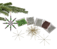 Drahtsterne-Komplett-Set silber-grau-grün