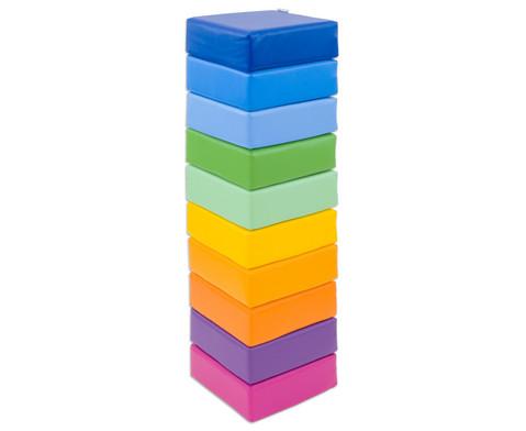Sitzkissen Regenbogen 10-tlg