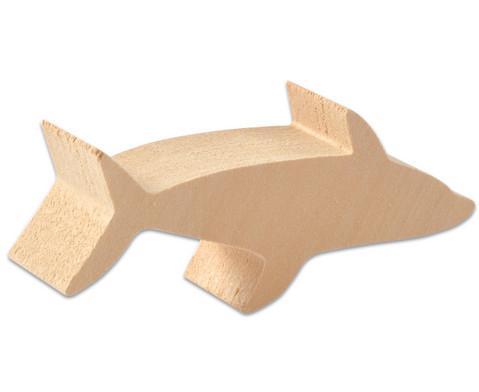 Schnitzrohlinge 3er-Set - Seestern Hai Delfin-3