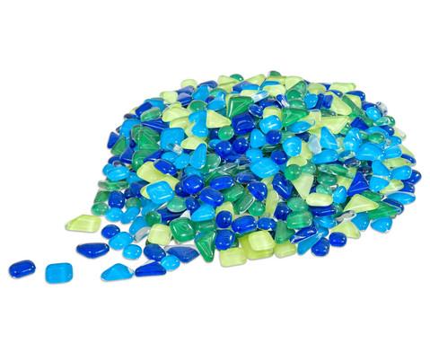 Mosaiksteine Softglas gruen-blau 200 g