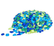 Mosaiksteine Softglas grün/blau, 200g