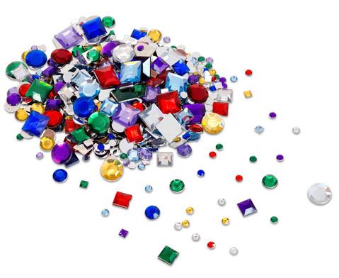 800 Deko-Steine in versch Farben und Formen