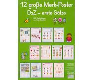 12 große Merk-Poster DaZ - erste Sätze