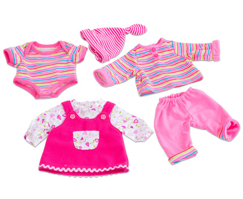 Puppenkleider-Set Rosa 3 Stueck