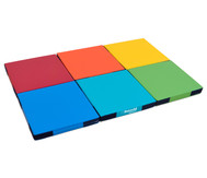 Regenbogen-Matten-Set, 6 Stück