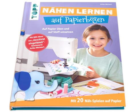 Buch Naehen lernen auf Papierboegen