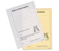 Eltern-Information, Block mit 50 Blatt und Durchschlag