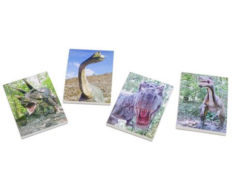 Notizblock Dinosaurier 4 Stueck im Set verschiedene Motive
