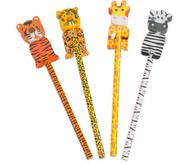 Bleistift Wilde Tiere, 4 Stück im Set, Überraschungsmotive