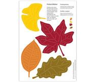 Blätter-Mobile zum Prickeln, 10 Stück