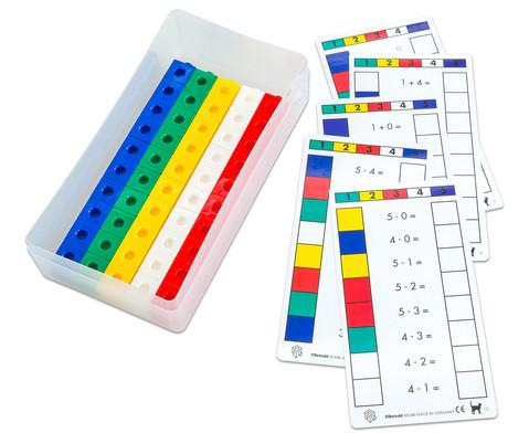 Steckwuerfel mit Arbeitskarten - Cube Control