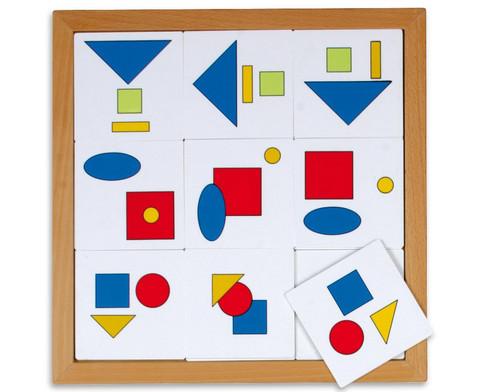 Logik Lotto - geometrische Flaechen