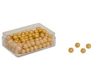 Goldene Perlen, 100 Stück
