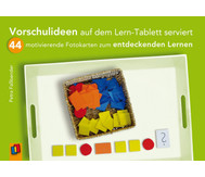 Vorschulideen auf dem Lern-Tablett serviert