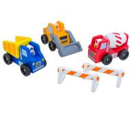 Baustellen-Fahrzeuge-Set