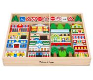 Stadt-Spiel-Set aus Holz