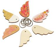 Schlüsselanhänger Flügel, 6 Stück