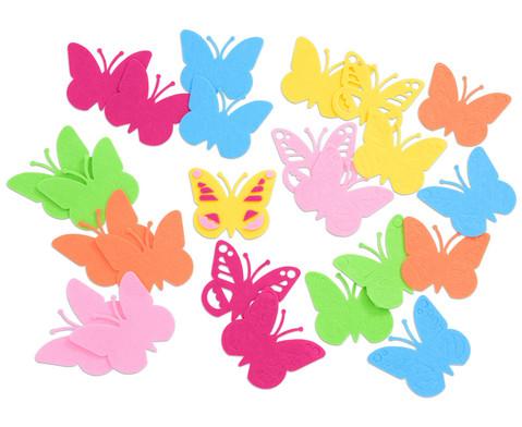 Schmetterlinge aus Filz 24 Stueck