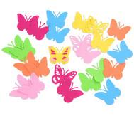 Schmetterlinge aus Filz, 24 Stück