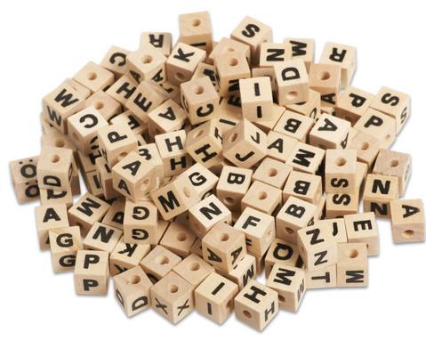 Buchstabenperlen aus Holz 300 Stueck