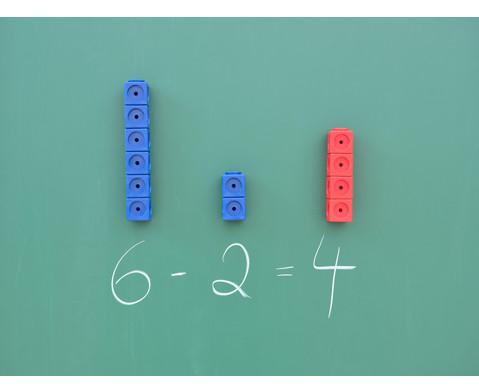 Riesensteckwuerfel-Set magnetisch 40 Stueck rot-blau-3