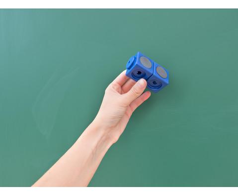 Riesensteckwuerfel-Set magnetisch 40 Stueck rot-blau-5