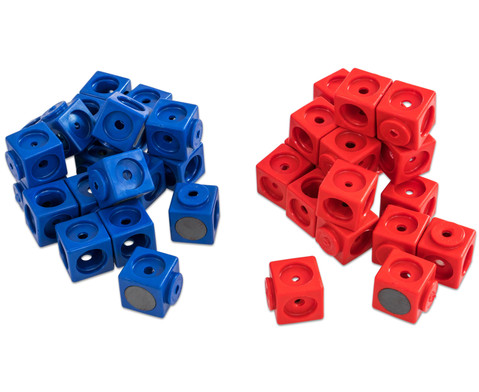 Riesensteckwuerfel-Set magnetisch 40 Stueck rot-blau-9