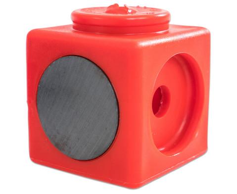 Riesensteckwuerfel-Set magnetisch 40 Stueck rot-blau-10
