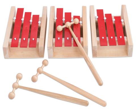 Dreiklang-Glockenspiel-Set Sopran