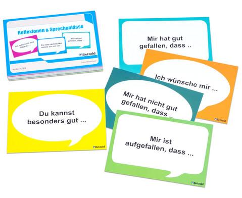 Karten zur Reflexion und fuer Sprechanlaesse