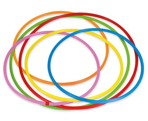 Hula-Hoop Reifen Regenbogen-Set 6 Stueck