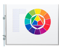 Magnetisches Tafelmaterial Farbkreis nach Itten