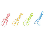 12 Musikinstrumente-Büroklammern