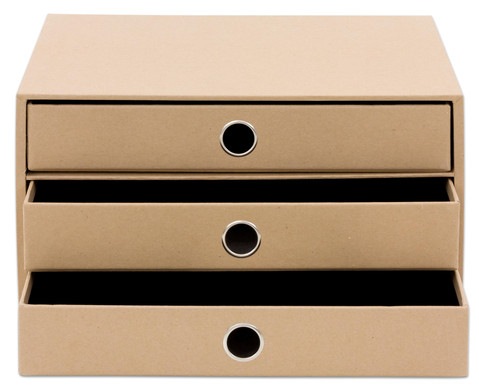 SOHO  3er Schubladenbox Kraft