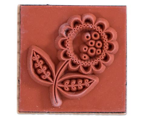 Holzstempel Flowers  Dots mit Stempelkissen-5