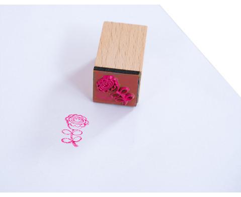 Holzstempel Flowers  Dots mit Stempelkissen-12
