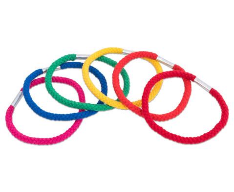 Regenbogen-Ringe aus Baumwolle 6 Stueck