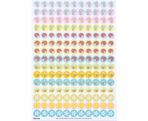 Belohnungssticker Tiere und Blumen 660 Stueck-3