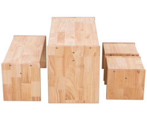 Holz-Sitzgruppe 4-teilig-1