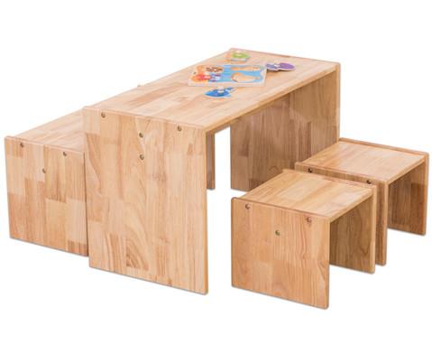 Holz-Sitzgruppe 4-teilig-2