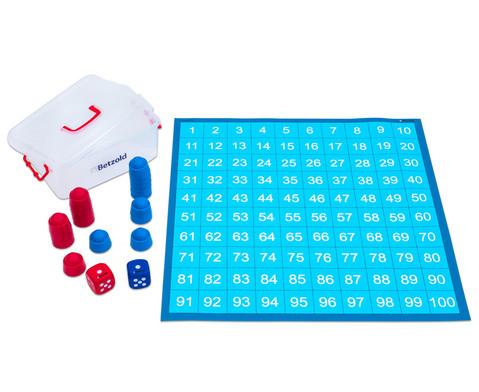 Betzold Zahlenraum 100 - Spielplane Figuren und Wuerfel 75 x 75 cm