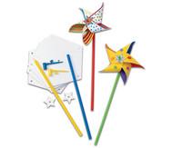 Bastelset Windräder, 24 Stück