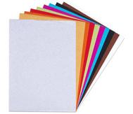 Glitter-Kraftpapier, 10 Farben, 24 x 34 cm