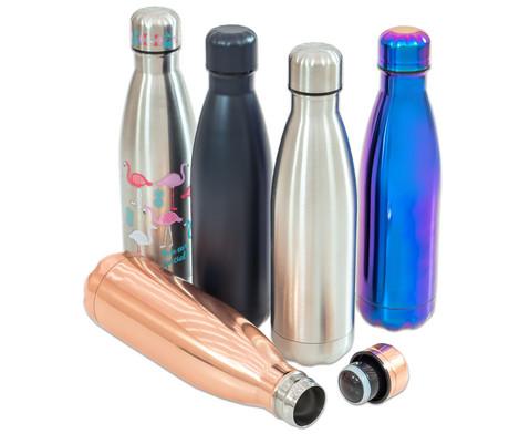 THE BOTTLE Thermosflasche aus Edelstahl 05 Liter