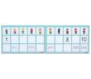 Mengen und Zahlen - Magnetischer Zahlenstrahl bis 10