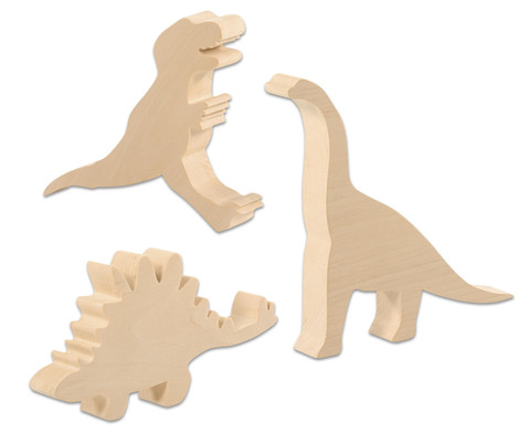 Schnitz-Rohlinge Dinosaurier 3er-Set